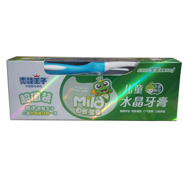 青蛙王子儿童水晶牙膏(苹果)50g+316牙刷
